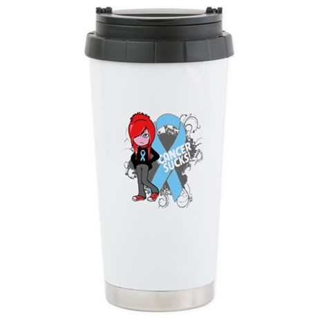 Prostate Cancer SUCKS Ceramic Travel Mug
