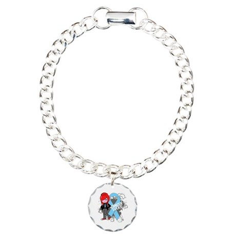 Prostate Cancer SUCKS Charm Bracelet, One Charm