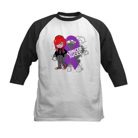Pancreatic Cancer SUCKS Kids Baseball Jersey