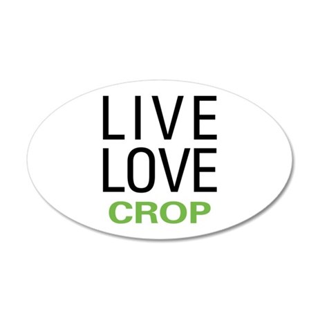 Live Love Crop 35x21 Oval Wall Decal