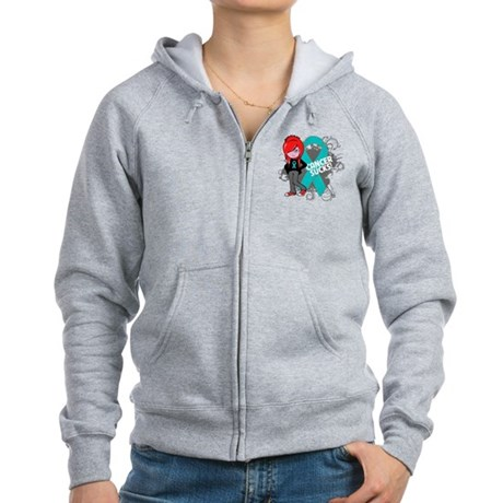 Ovarian Cancer SUCKS Women's Zip Hoodie