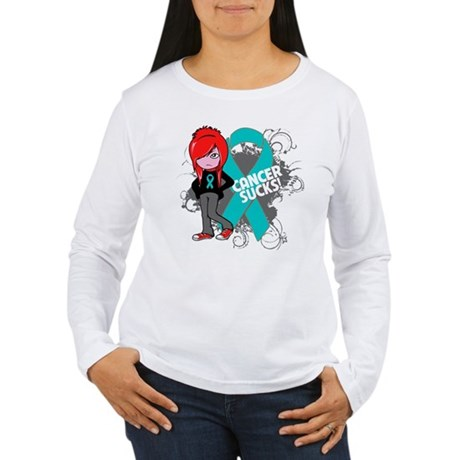 Ovarian Cancer SUCKS Women's Long Sleeve T-Shirt
