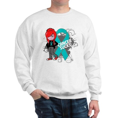 Ovarian Cancer SUCKS Sweatshirt