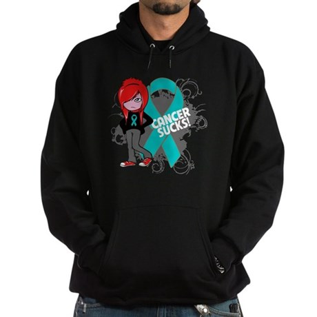 Ovarian Cancer SUCKS Hoodie (dark)
