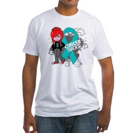 Ovarian Cancer SUCKS Fitted T-Shirt