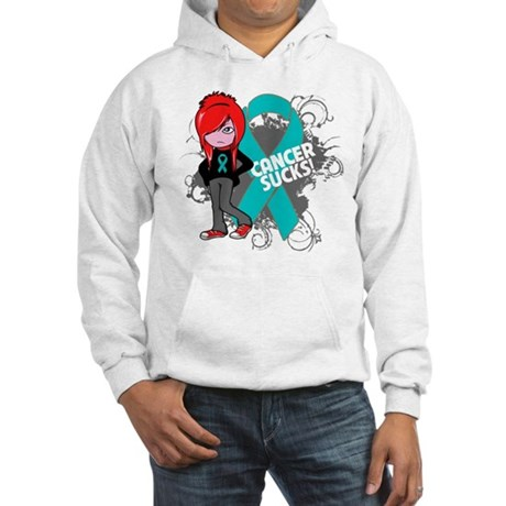 Ovarian Cancer SUCKS Hooded Sweatshirt