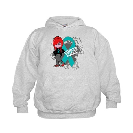 Ovarian Cancer SUCKS Kids Hoodie