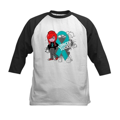 Ovarian Cancer SUCKS Kids Baseball Jersey
