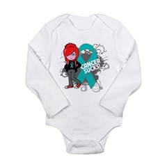 Ovarian Cancer SUCKS Long Sleeve Infant Bodysuit