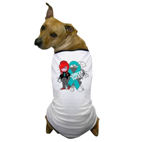 Ovarian Cancer SUCKS Dog T-Shirt
