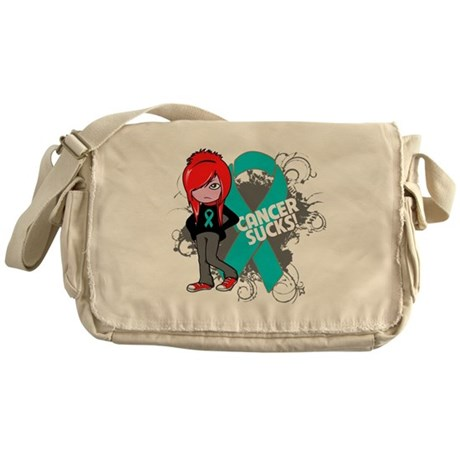 Ovarian Cancer SUCKS Messenger Bag