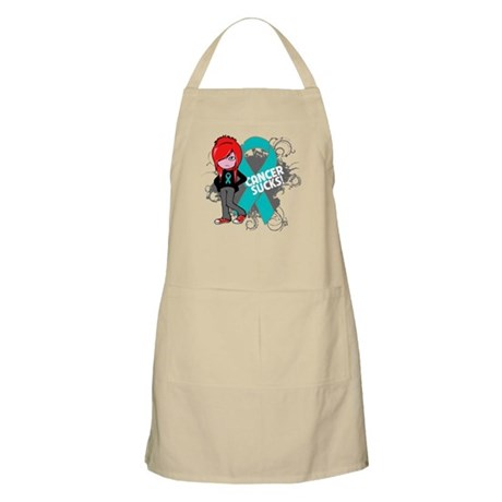Ovarian Cancer SUCKS Apron