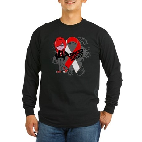 Oral CANCER SUCKS Long Sleeve Dark T-Shirt