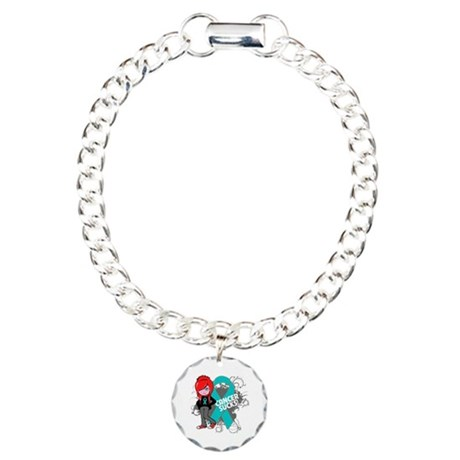 Ovarian Cancer SUCKS Charm Bracelet, One Charm