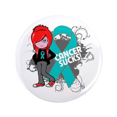 "Ovarian Cancer SUCKS 3.5"" Button"