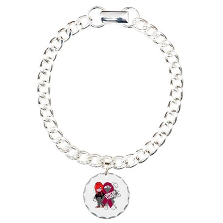 Myeloma CANCER SUCKS Charm Bracelet, One Charm