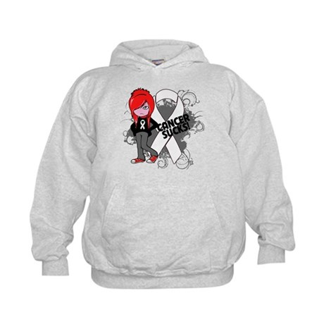 Mesothelioma CANCER SUCKS Kids Hoodie