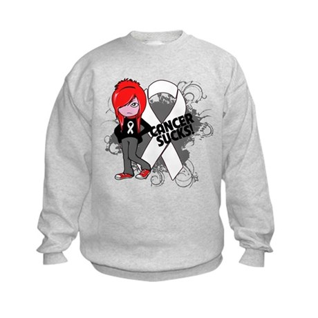 Mesothelioma CANCER SUCKS Kids Sweatshirt