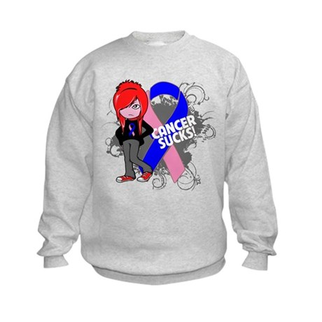 Male Breast CANCER SUCKS Kids Sweatshirt