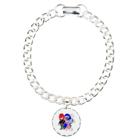 Male Breast CANCER SUCKS Charm Bracelet, One Charm