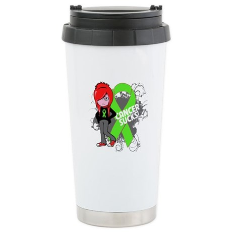 Lymphoma CANCER SUCKS Ceramic Travel Mug
