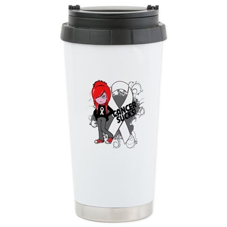 Lung CANCER SUCKS Ceramic Travel Mug