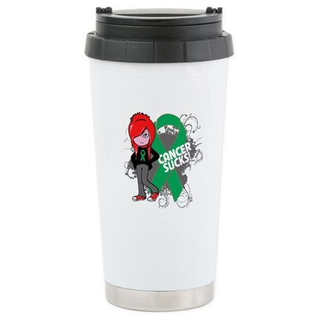 Liver CANCER SUCKS Ceramic Travel Mug