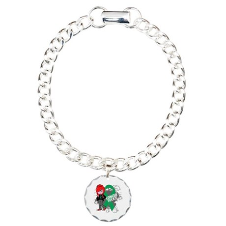 Liver CANCER SUCKS Charm Bracelet, One Charm