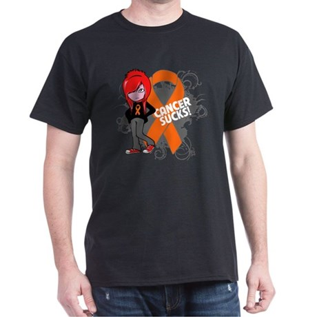 Leukemia CANCER SUCKS Dark T-Shirt