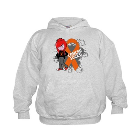 Leukemia CANCER SUCKS Kids Hoodie