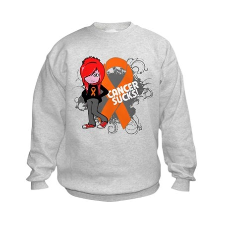 Leukemia CANCER SUCKS Kids Sweatshirt