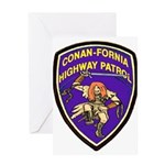 Conan-Fornia Highway Patrol Greeting Card