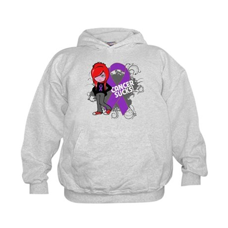 Leiomyosarcoma CANCER SUCKS Kids Hoodie