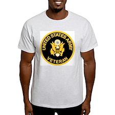 Grey Army Veteran T-Shirt<BR>Gold/Black