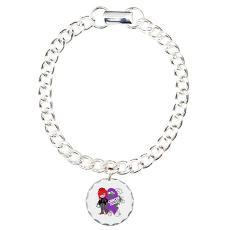 Leiomyosarcoma CANCER SUCKS Charm Bracelet, One Ch