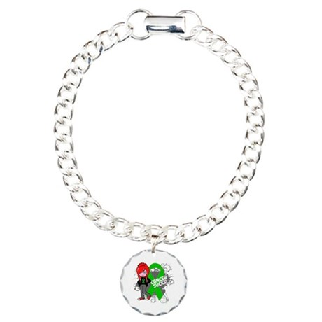 Kidney CANCER SUCKS Charm Bracelet, One Charm