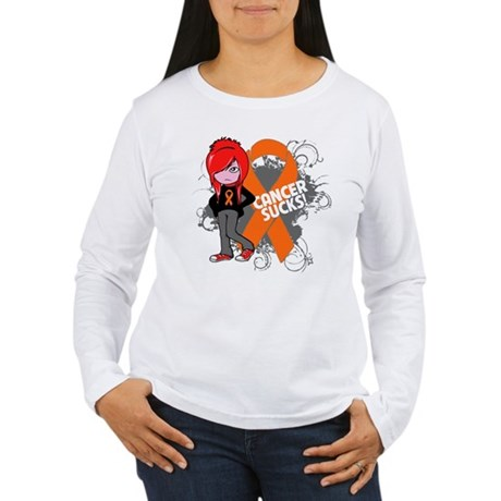 Kidney CANCER SUCKS Women's Long Sleeve T-Shirt