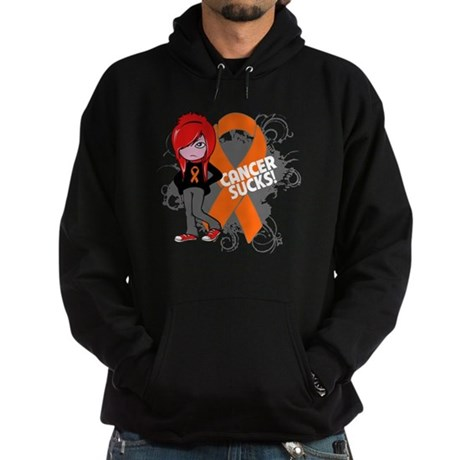 Kidney CANCER SUCKS Hoodie (dark)