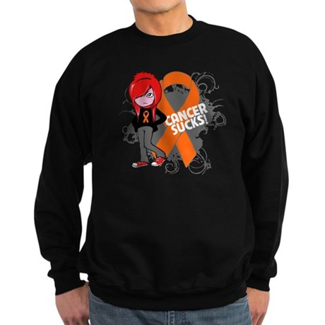 Kidney CANCER SUCKS Sweatshirt (dark)