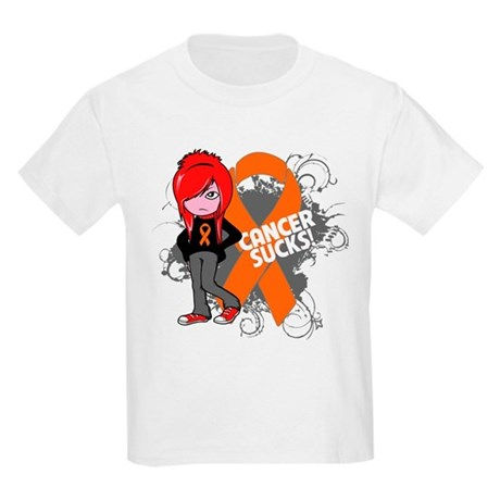 Kidney CANCER SUCKS Kids Light T-Shirt