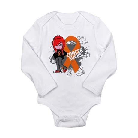 Kidney CANCER SUCKS Long Sleeve Infant Bodysuit