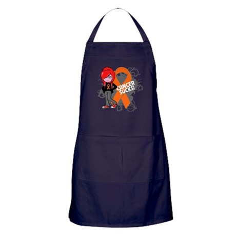 Kidney CANCER SUCKS Apron (dark)