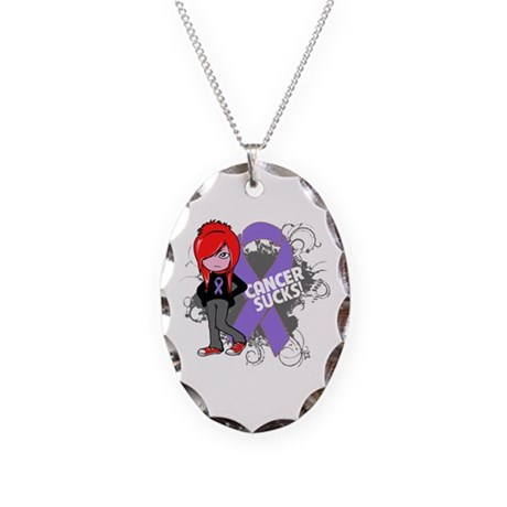 Hodgkins Lymphoma Sucks Necklace Oval Charm