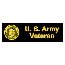 Army Veteran Bumper Car Sticker