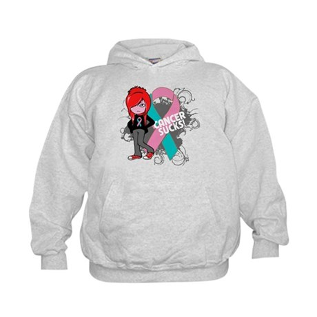 Hereditary Breast CANCER SUCKS Kids Hoodie