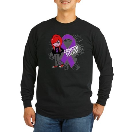 GIST CANCER SUCKS Long Sleeve Dark T-Shirt