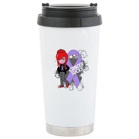 General CANCER SUCKS Ceramic Travel Mug