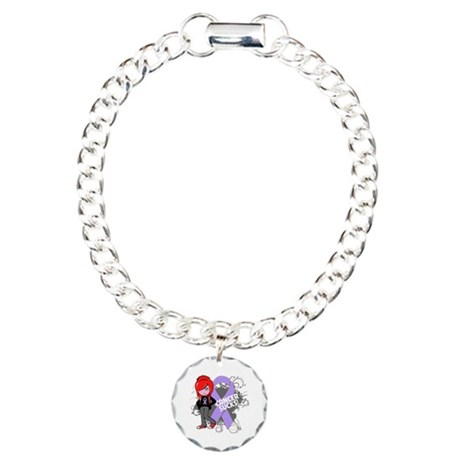 General CANCER SUCKS Charm Bracelet, One Charm