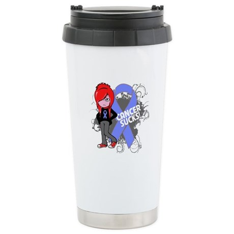 Esophageal CANCER SUCKS Ceramic Travel Mug