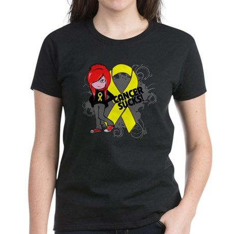 Ewing Sarcoma CANCER SUCKS Women's Dark T-Shirt